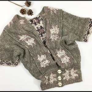 Free people open knit chunky oversized cardigan